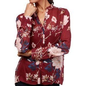 Lucky Brand Boho Floral Ruffle Blouse